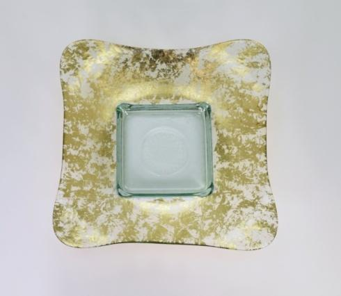 "$154.00 13"" Large Square Bowl Gold Wabi Sabi TCH-229"