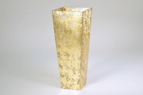 """$158.50 16"""" Tapered Vase Gold Wabi Sabi TCH-151"""