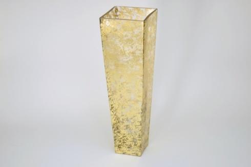 """$198.00 20"""" Tapered Square Vase Wabi Sabi Gold TCH-239"""