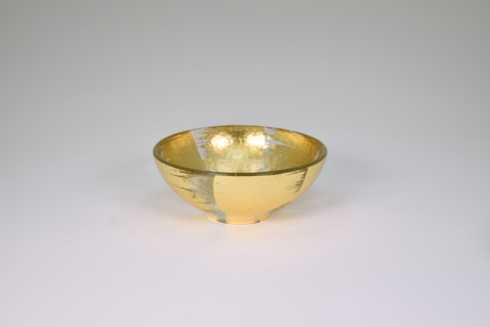 Tamara Childs   6x2.5 Bubble Glass Bowl Gold Slash TCH-053 $44.00