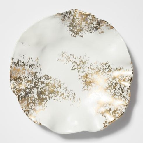 Babcock Exclusives  Vietri Scattered Gold Matte Round Platter VIE-313 $194.00