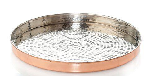 Abigails   Shiny Copper Rd Tray ABI-171 $132.00