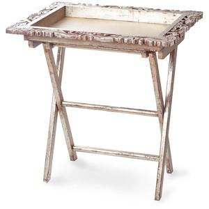 $221.50 Silver Leaf Tray Table ABI-181