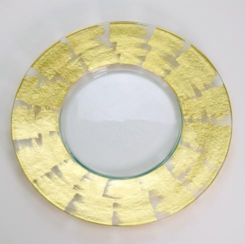 "$165.00 20"" Round Textured Gold Slash Plate TCH-136"