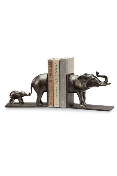 $122.00 Elephant & Baby Bookends SPC-090