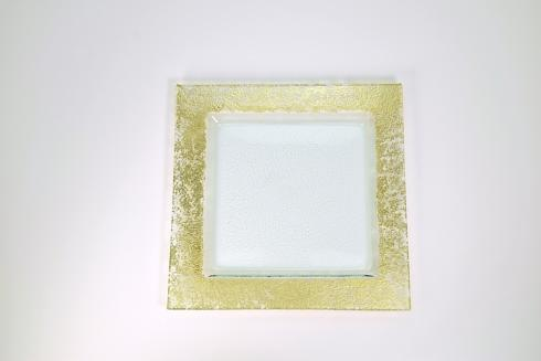 "$88.00 14"" Square Tray w/ Gold rim TCH-048"