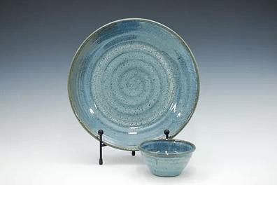 Babcock Exclusives  Steve Tubbs Pottery Sea Spray Opal Chip & Dip STP-109 $67.00