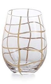 Zodax   Gold Groove Stemless Wine ZOD-015 $17.50