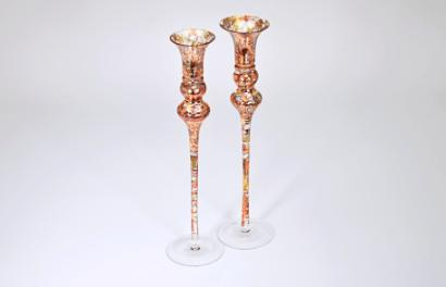 "$132.00 Northern Lights 14"" Candlesticks Pair TCH-171"