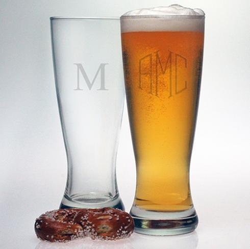 Susquehanna Glass   Pilsner 1 Letter Dot set/4 SQG-182 $60.00