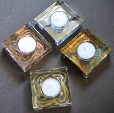 Tamara Childs   Square Tea Light Gold Slash TCH-034 $26.00