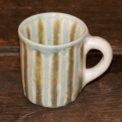 Good Earth Pottery  Teal Barrel Mug GOE-574 $30.50