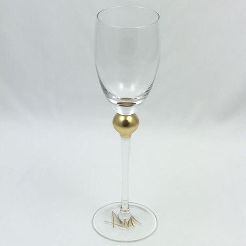 $44.00 Gold Large Wine Glass TCH-102
