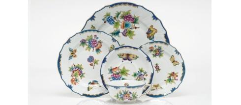 """Babcock Exclusives  Herend Queen Victoria Blue 17"""" Platter HXX-051 $770.00"""