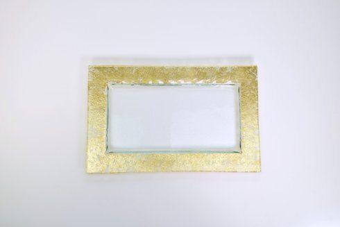 Tamara Childs   10x16 Rectangular Serving Tray Gold Wabi Sabi TCH-190 $105.00