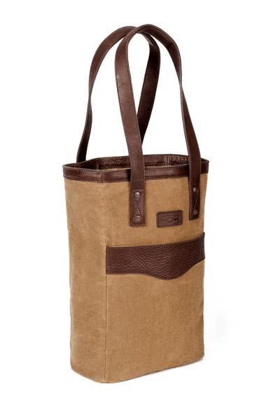 Babcock Exclusives  Mission Mercantile Waxed Canvas 2 Bottle Wine Bag MSM-127 $170.00