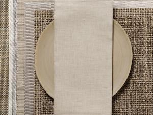 Chilewich  Linen Napkins Linen Napkins - Flax Set of 4 $38.00