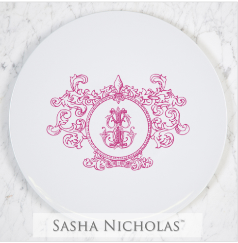 Cake Plate with Fleur De Lis Crest collection with 1 products