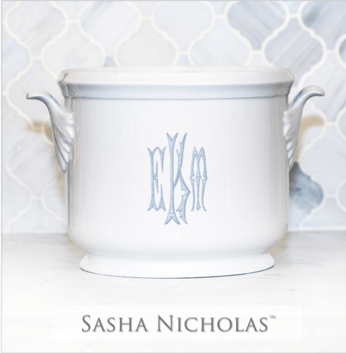 Sasha Nicholas  Custom Pieces Ice Bucket with EKM Monogram $185.00