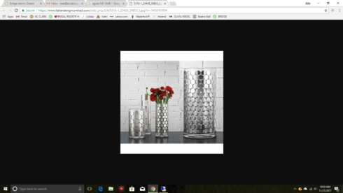BC Clark Exclusives   Egizia Polka Dot Vase $250.00