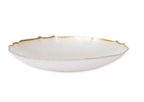 BC Clark Exclusives   Vietri Pastel Glass White Large Bowl $60.00