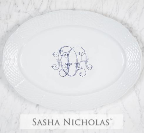 Sasha Nicholas  Weave White Custom Oval Platter KDA $172.00