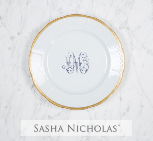Sasha Nicholas  Custom Pieces Custom Morrow MMJ Script Gold Salad $66.00