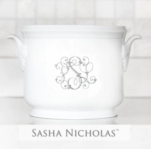 Sasha Nicholas  Weave White Peter & Lauren\'s Champagne Bucket $185.00