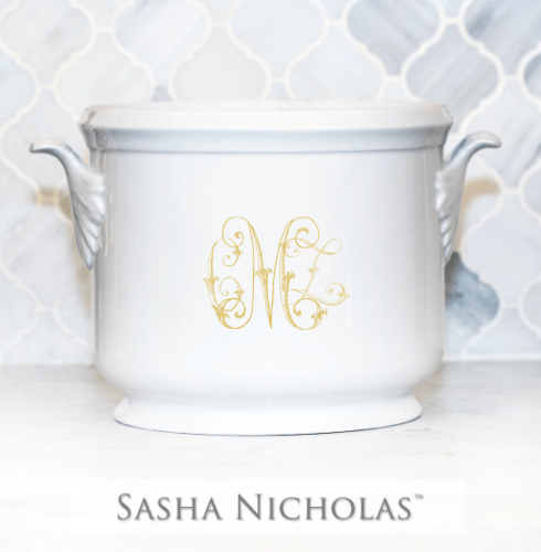 Sasha Nicholas  Custom Pieces McQueen Custom Champagne Bucket $195.00