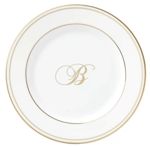 $20.00 Federal Gold Bread & Butter Plate Script - B