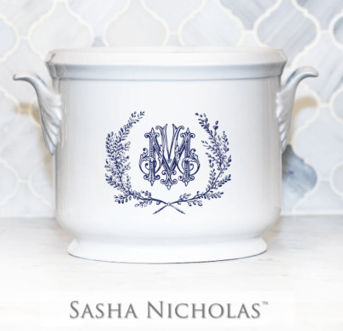 Sasha Nicholas  Custom Pieces Mitchell Custom Champagne Bucket $185.00