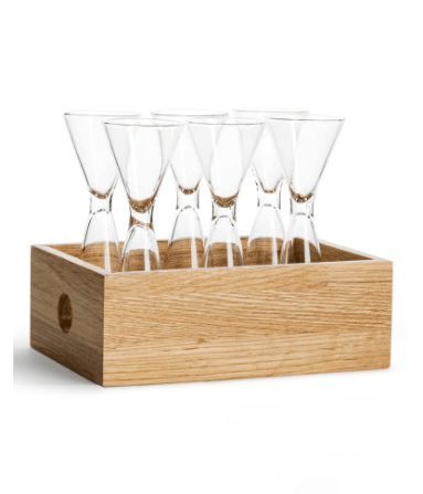 BC Clark Exclusives   Sagaform Shot Glasses in Oak Box $78.00