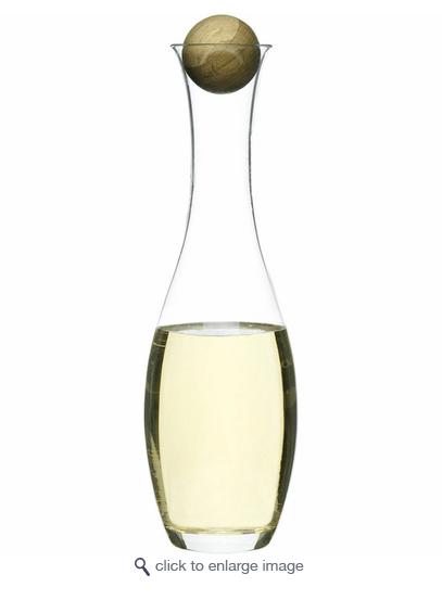 BC Clark Exclusives   Sagaform Oval Oak White Wine Carafe $48.00