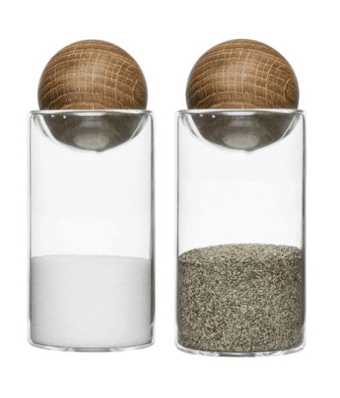 BC Clark Exclusives   Sagaform Oval Oak Salt & Pepper $36.00