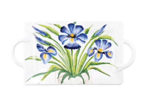 BC Clark Exclusives   Vietri Iris Handled Wall Plate $214.00