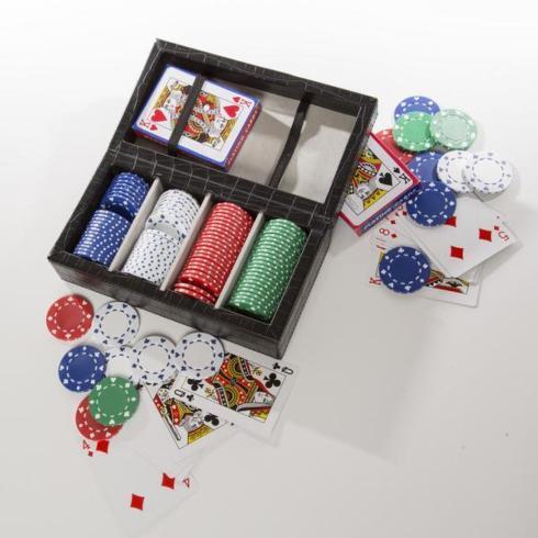 $140.00 Brouk Poker Set Black Croc