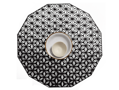 Kaleidoscope Black Mat Set/4 collection with 1 products