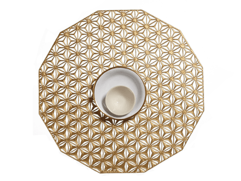 Kaleidoscope Brass Mat Set/4 collection with 1 products