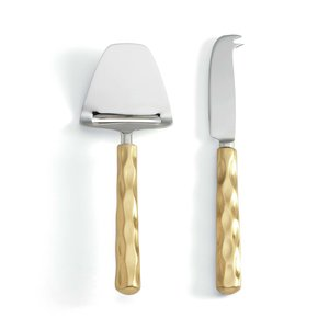 Michael Wainwright  Truro Gold  Cheese Shaver & Knife Set $80.00