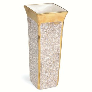 Michael Wainwright  Tempio Luna  Gold Square Vase $175.00