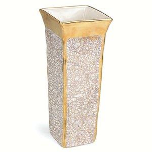 Michael Wainwright  Tempio Luna  Gold Square Vase $175.00