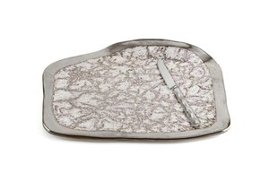 Michael Wainwright  Tempio Luna  Platinum Cheese Tray W/ Knife $175.00