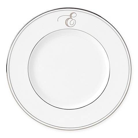 Lenox  Federal Platinum Script Monogram  Accent Plate - E $35.00