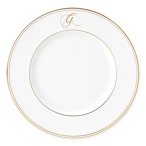 Lenox  Federal Gold Script Monogram  Accent Plate - G $35.00