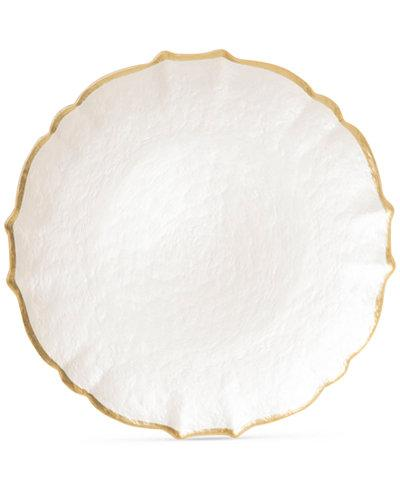 BC Clark Exclusives   Viva Pastel Glass White Charger Plates $34.00
