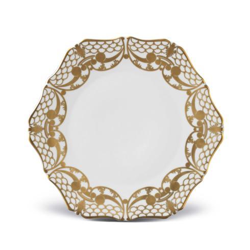L'Objet  Alencon Gold Alencon Gold Dessert Plate $136.00