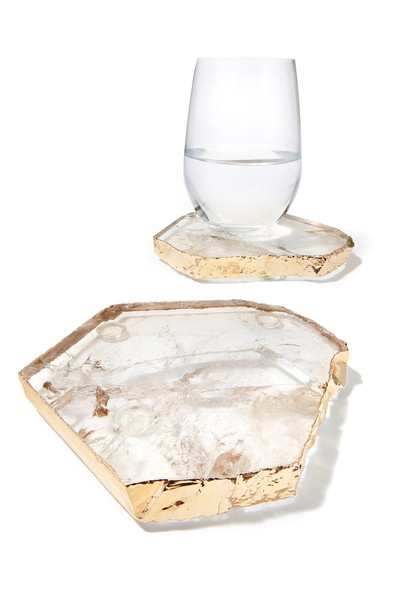 $130.00 Kivita Coasters Crystal & Gold