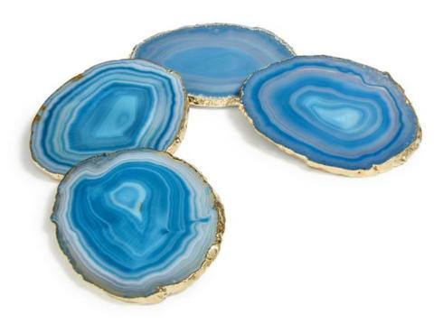 $175.00 Lumino Coasters Gold & Teal S/4