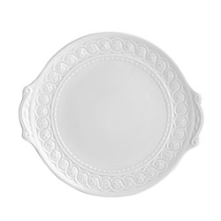 "$140.00 Cake Plate w/ Handles 11"""
