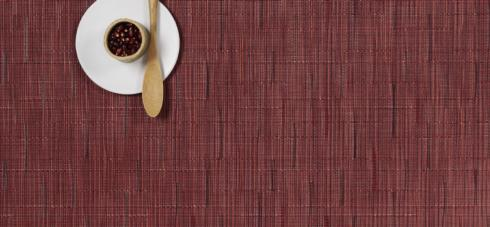 Chilewich  Bamboo Bamboo Cranberry Table Mat Set/4 $58.00